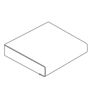 Werkblad wit spaanplaat 2960x600x28mm